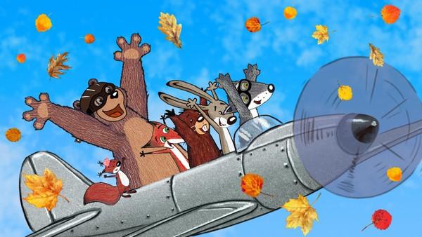 Den Vesle Grå Ulven vil også på tur sammen med fuglene. Problemet er at han ikke har vinger. Men fantasien kommer til hjelp! Norsk animasjonsfilm.