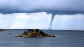 SKYPUMPE: Denne skypumpen ble observert i Arendal for noen år siden.