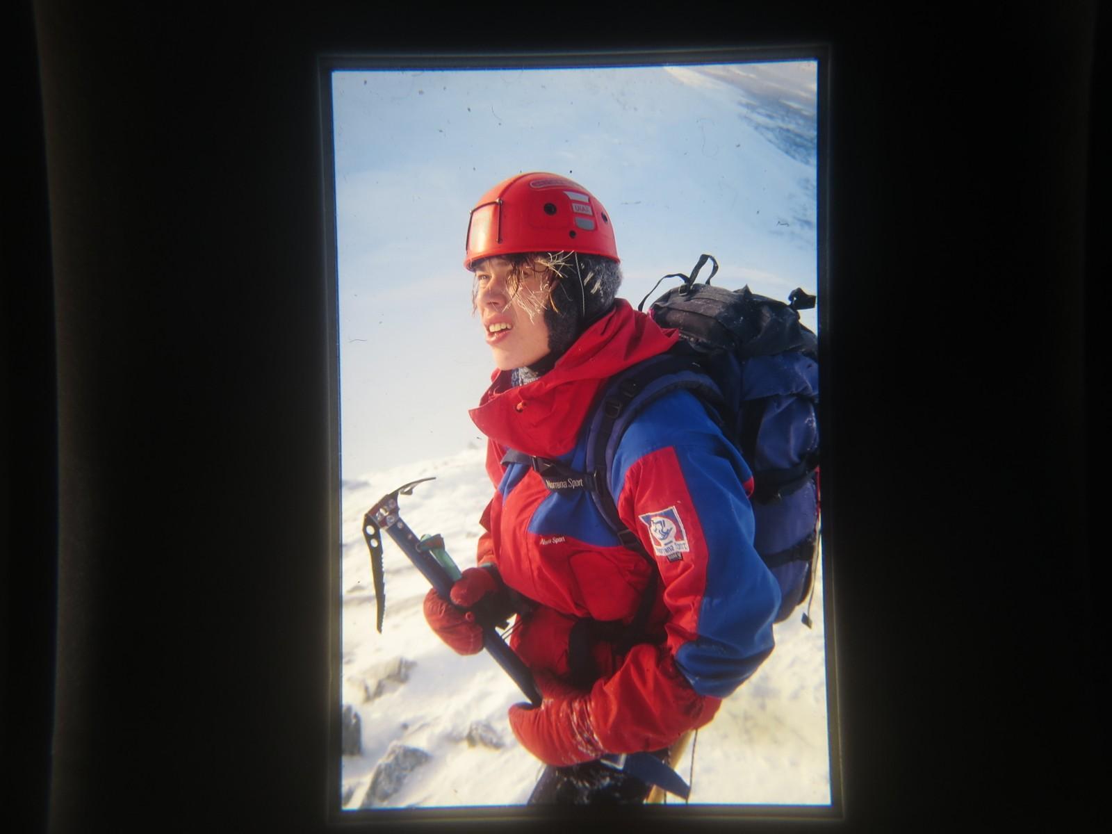 Mikal Nerberg på klatretur med Marius Martenson i 1997.
