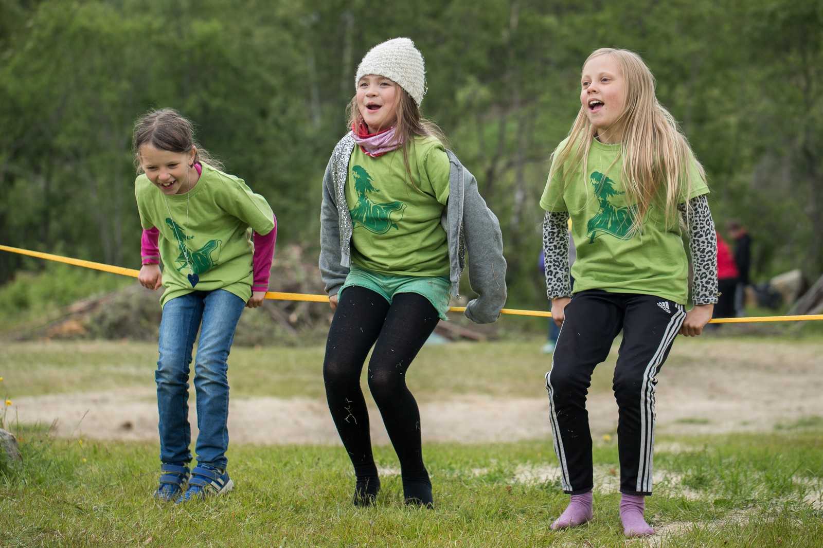 I overkant av 100 barn deltar på festivalen i festivalen, nemlig barnefestivalen på Riddu Riđđu.
