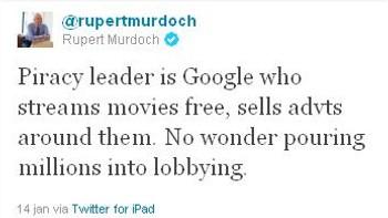 Murdoch om SOPA og Google