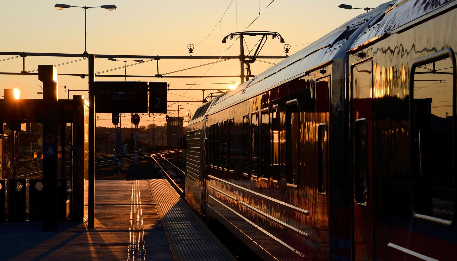 Tidlig morgen ved Trondheim Sentralstasjon