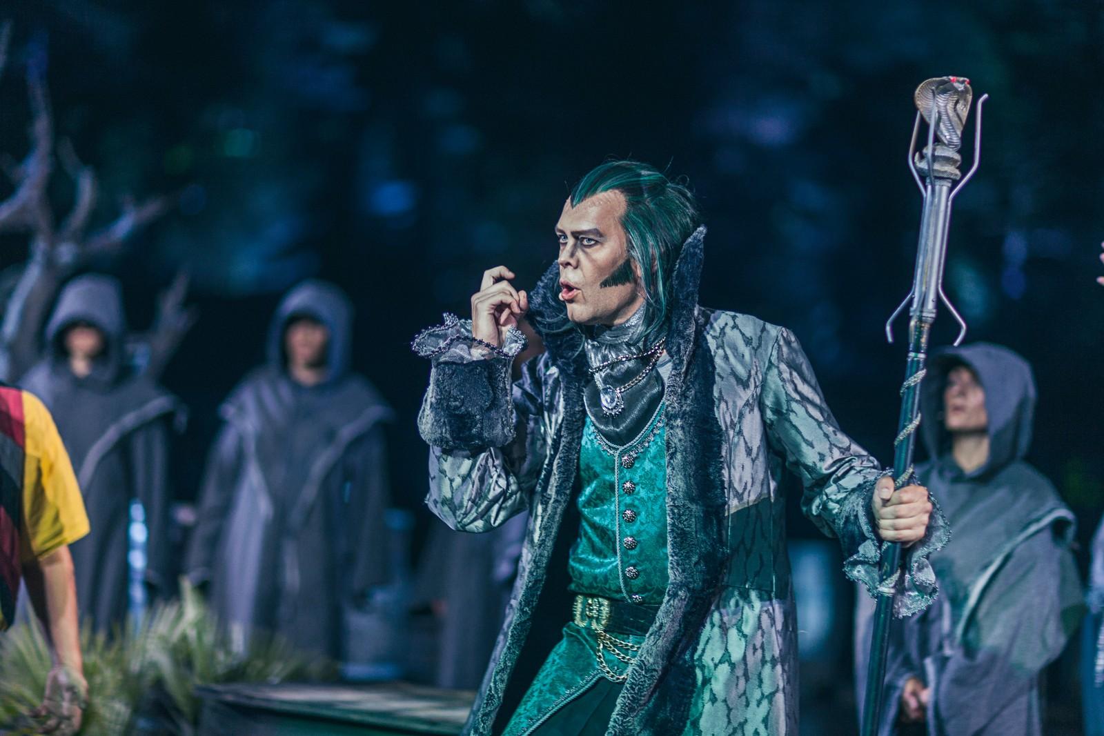 SKURK: Den ondskapsfulle trollmannen Greven av Gral (Håvard Bakke) hersker over den forheksede øya.