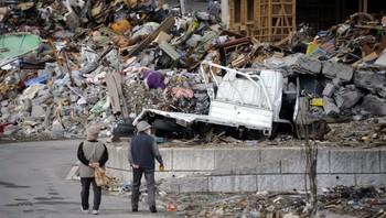Yamada, Japan etter tsunamien