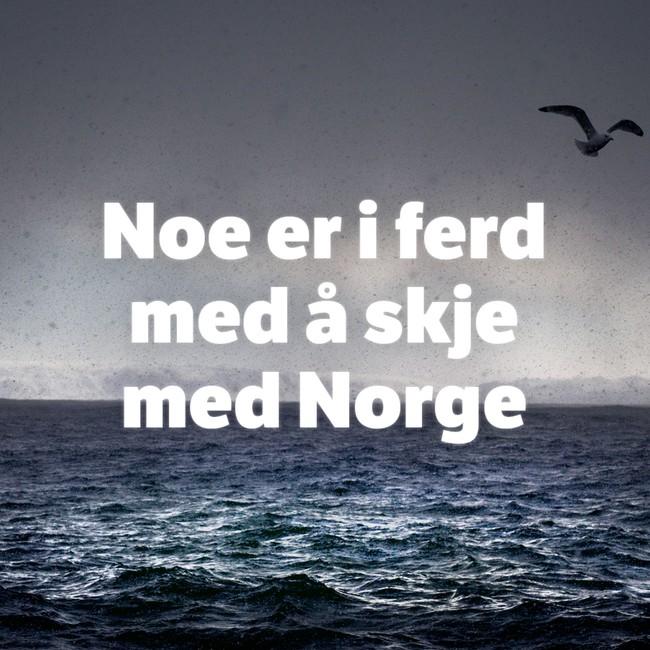 Noe er i ferd med å skje med Norge delebilde