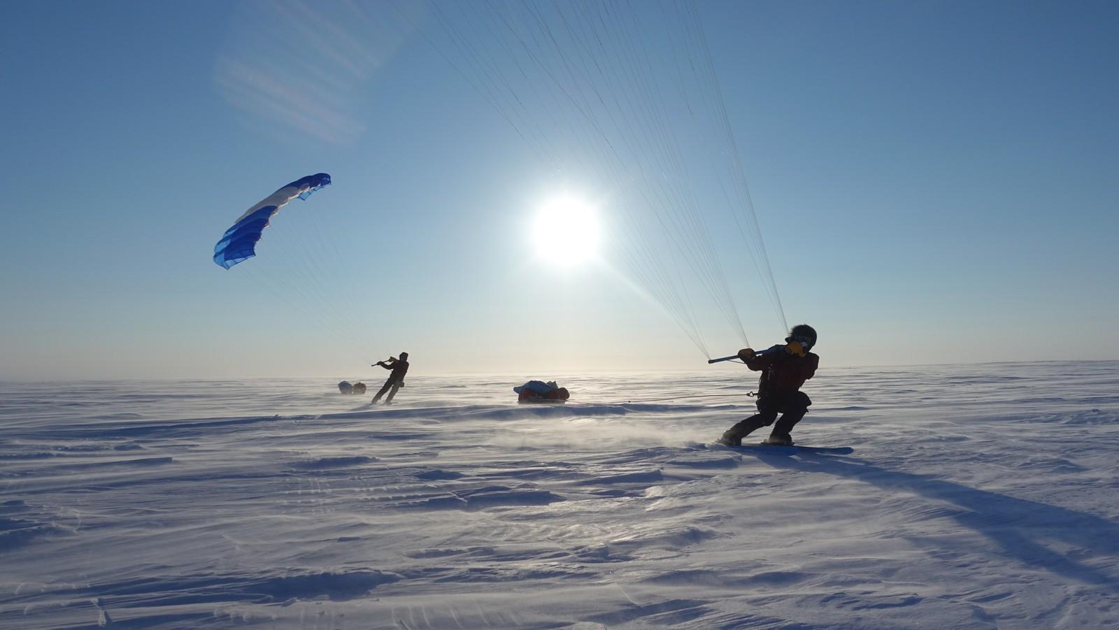 I tjue dager har de kjørt skiseil, i opp mot fem timer i strekk hver dag.