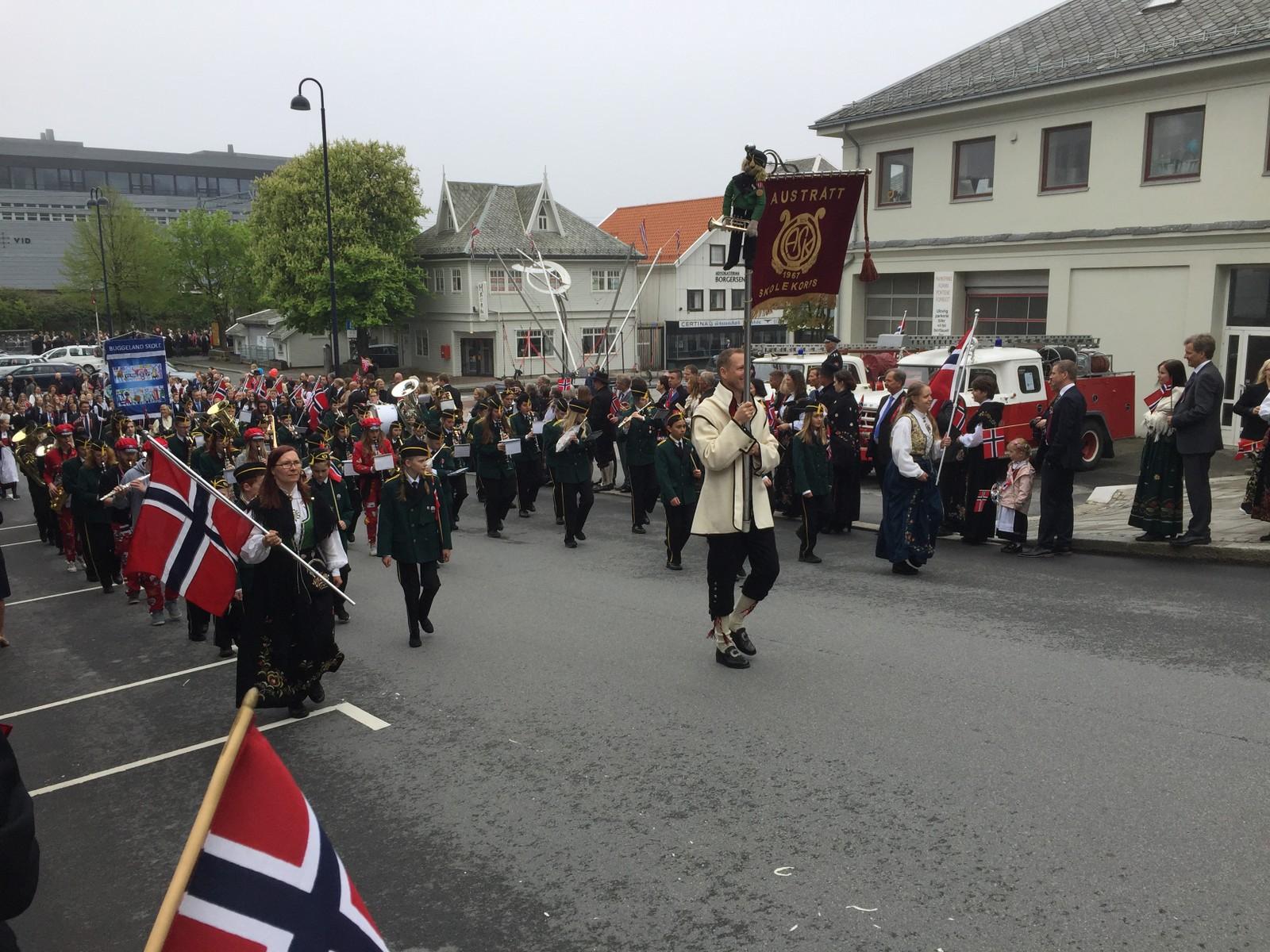 Austrått skolekorps i Sandnes.