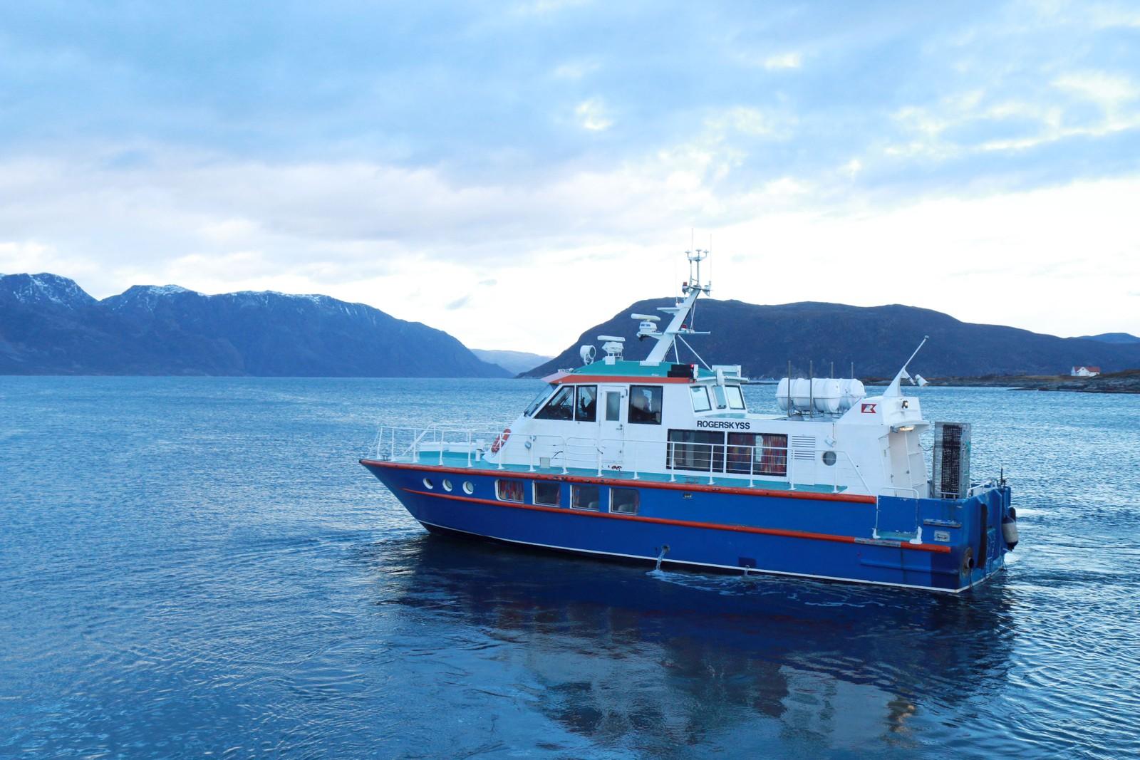Skyssbåten «Rogerskyss» er satt inn med daglige anløp i Lille Lerresfjord som en midlertidig løsning.