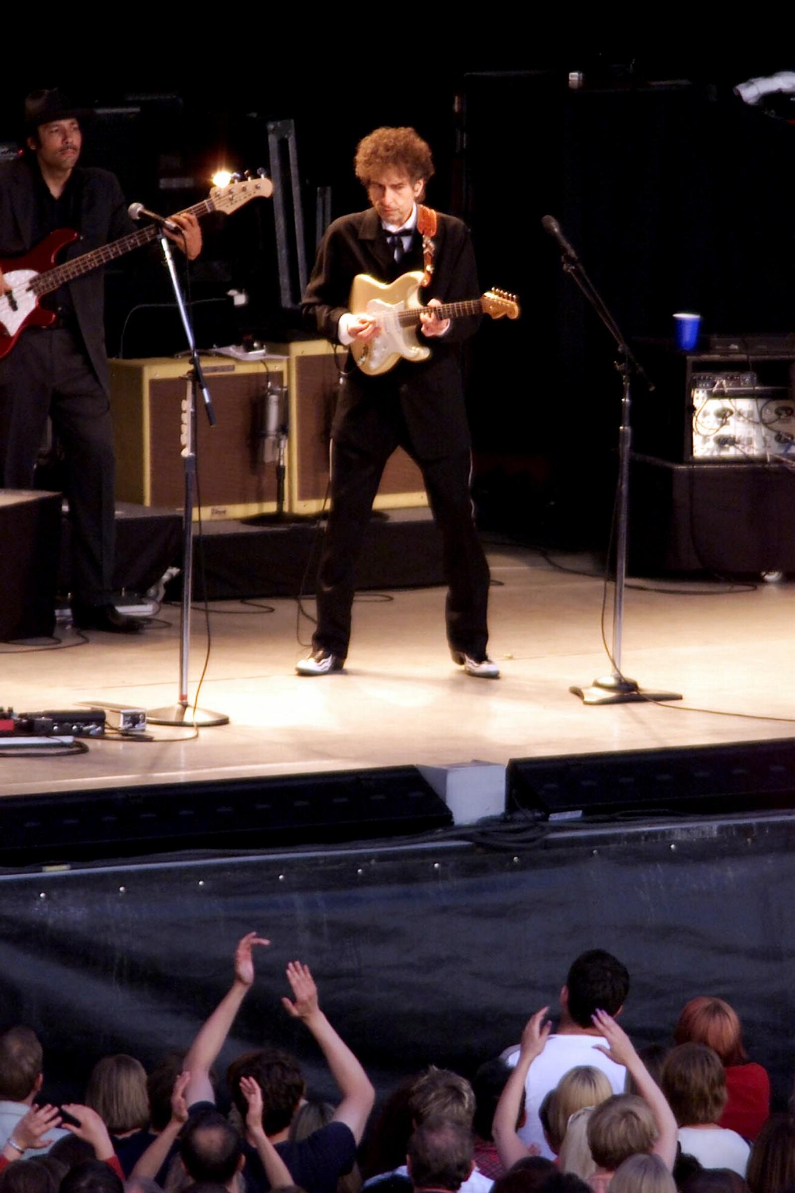 Bob Dylan fra scena i Trondheim.