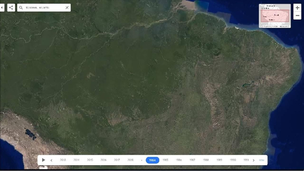 Google Earth Amazonas 1984