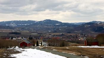 Utsikt fra Kattem mot Klett