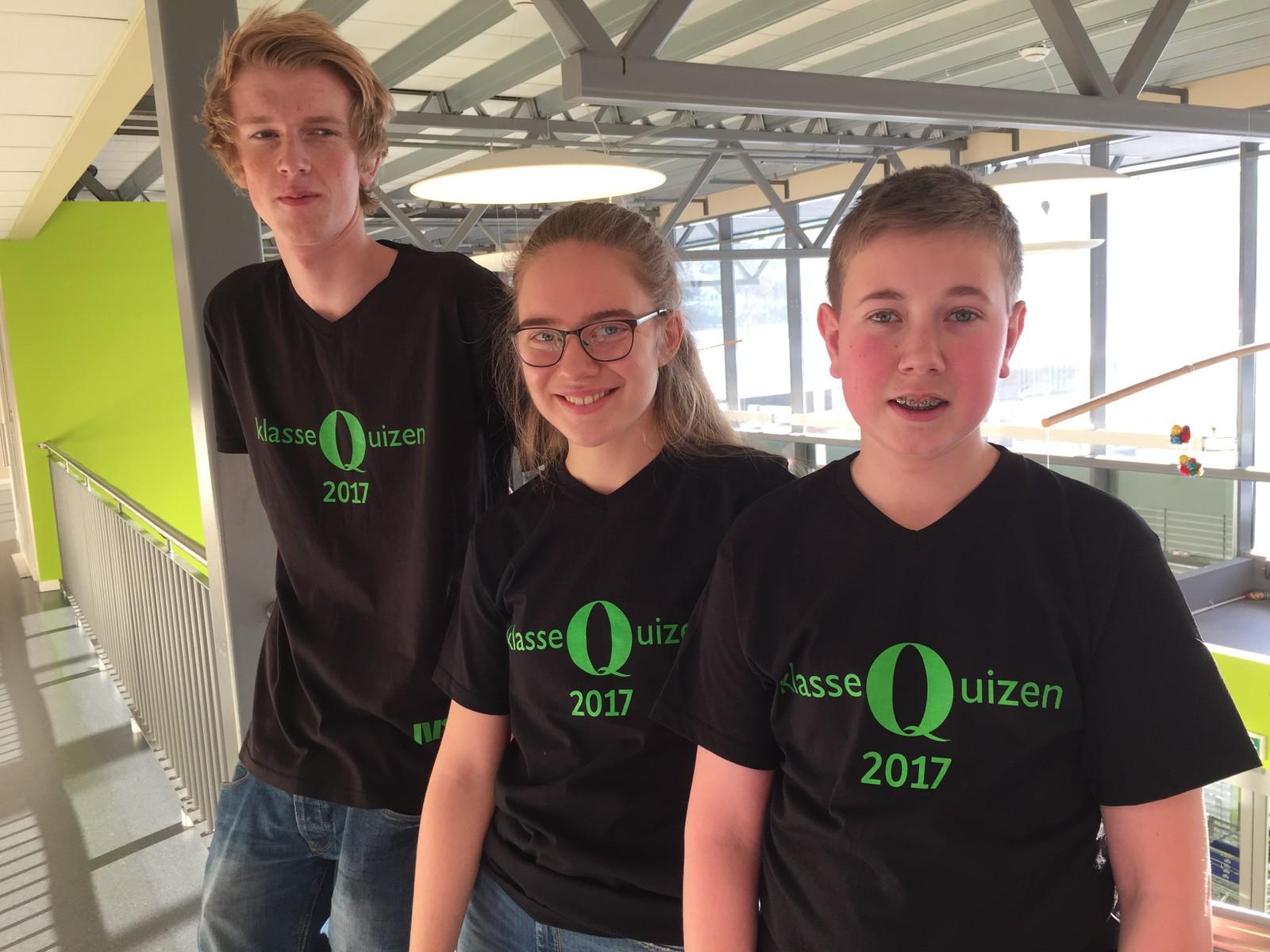 Syver Olstad, Nikoline Killi Haugen og Alexander Flati Brobakken fra Otta ungdomsskole fikk åtte poeng.