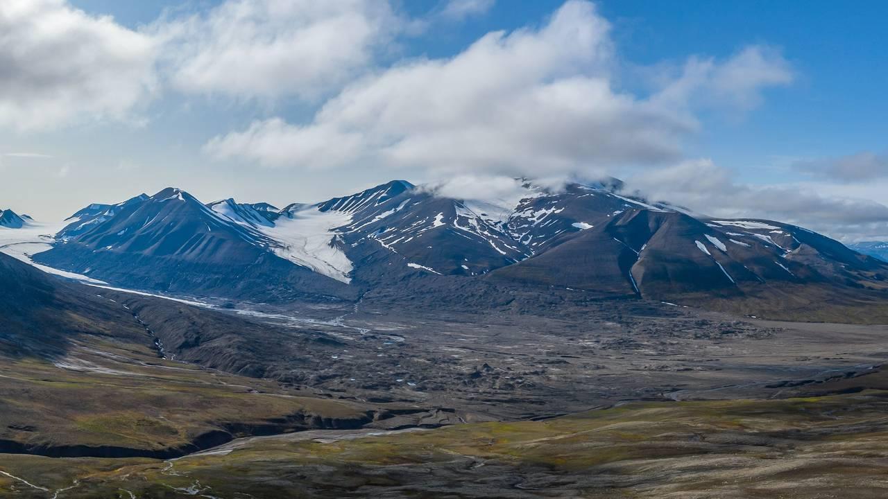 Drønbreen på Svalbard