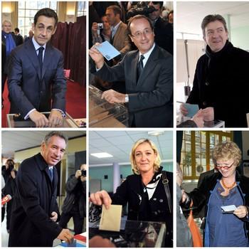 Seks franske presidentkandidater