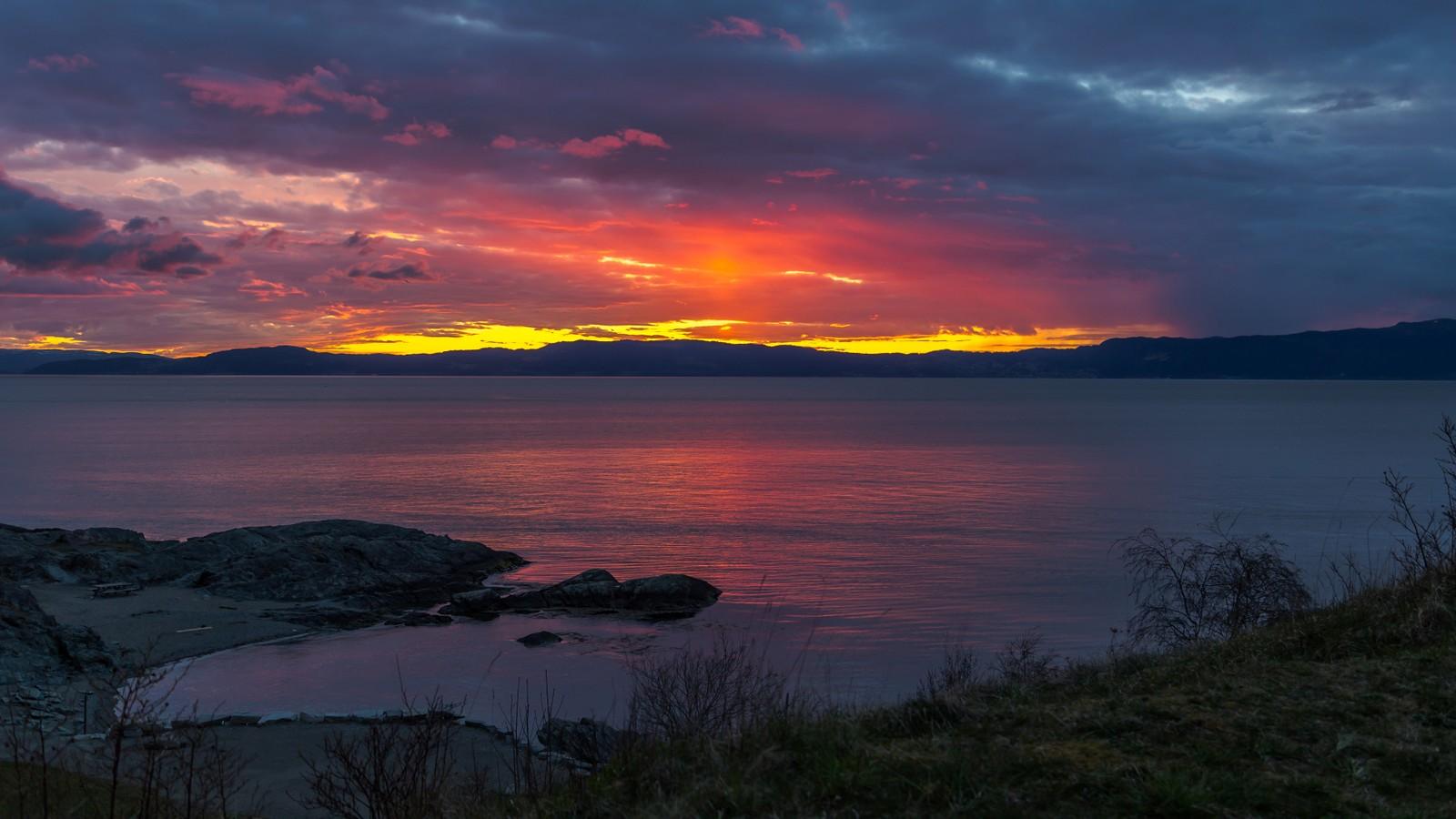 Magisk solnedgang fra Korsvika