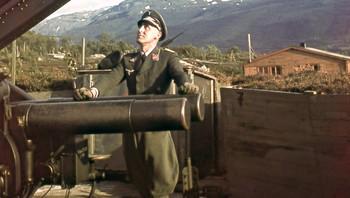 Fra Håkvik ved Narvik - krigsbilde