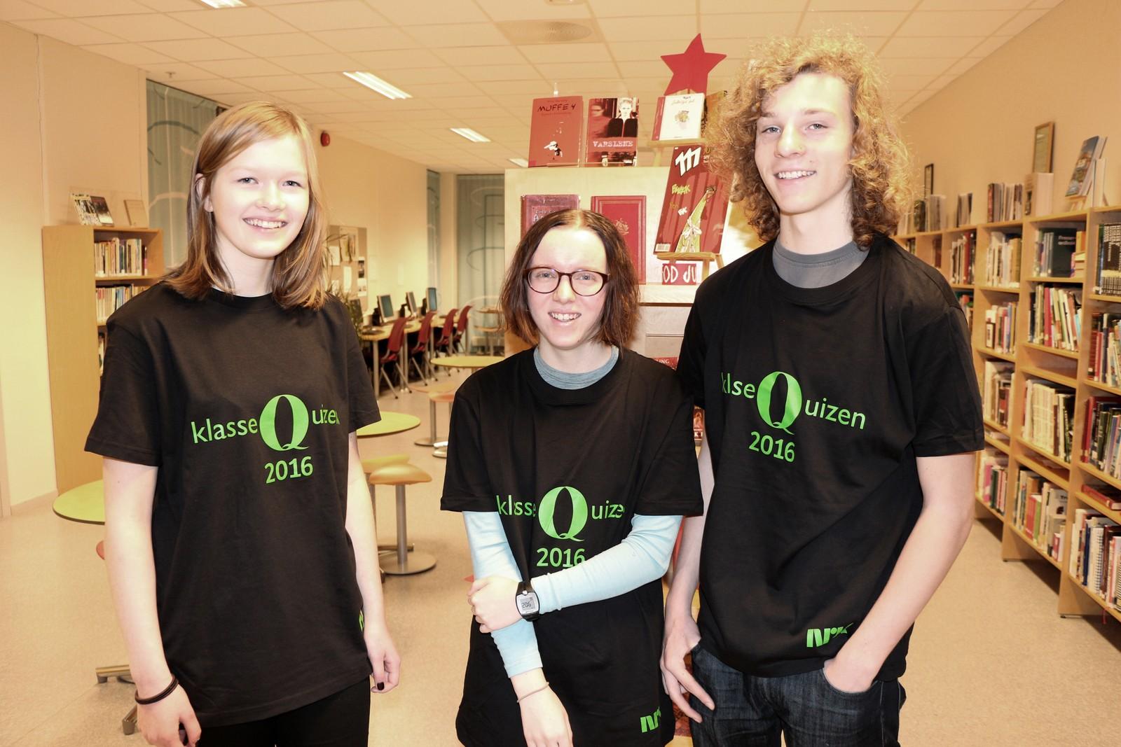 Maja Kristine Gansmo, Oda Sem Austmo og Herman Håberg Seternes fra Blussuvold skole.
