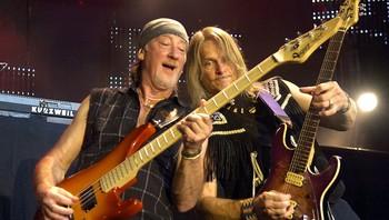 Roger Glover og Steve Morse i Deep Purple.