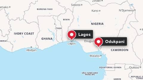 Kart over Nigeria