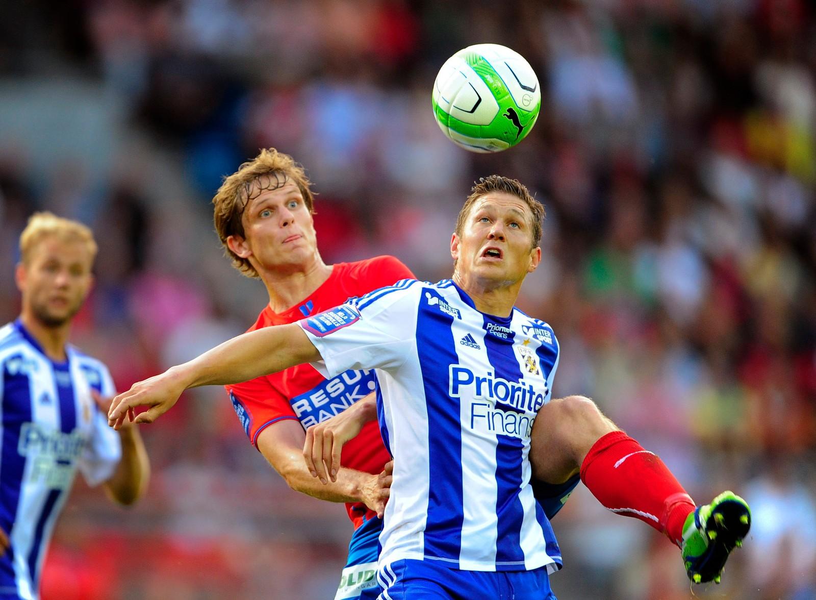 VANT THE DOUBLE: I Helsingborg ble det flere titler for ostringen. Her i kamp mot IFK Göteborg i 2013.
