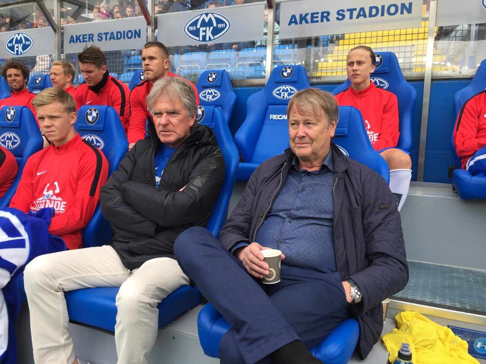 TRENERE: Åge Hareide og Erik Brakstad er trenere for Berg Hestads lag.