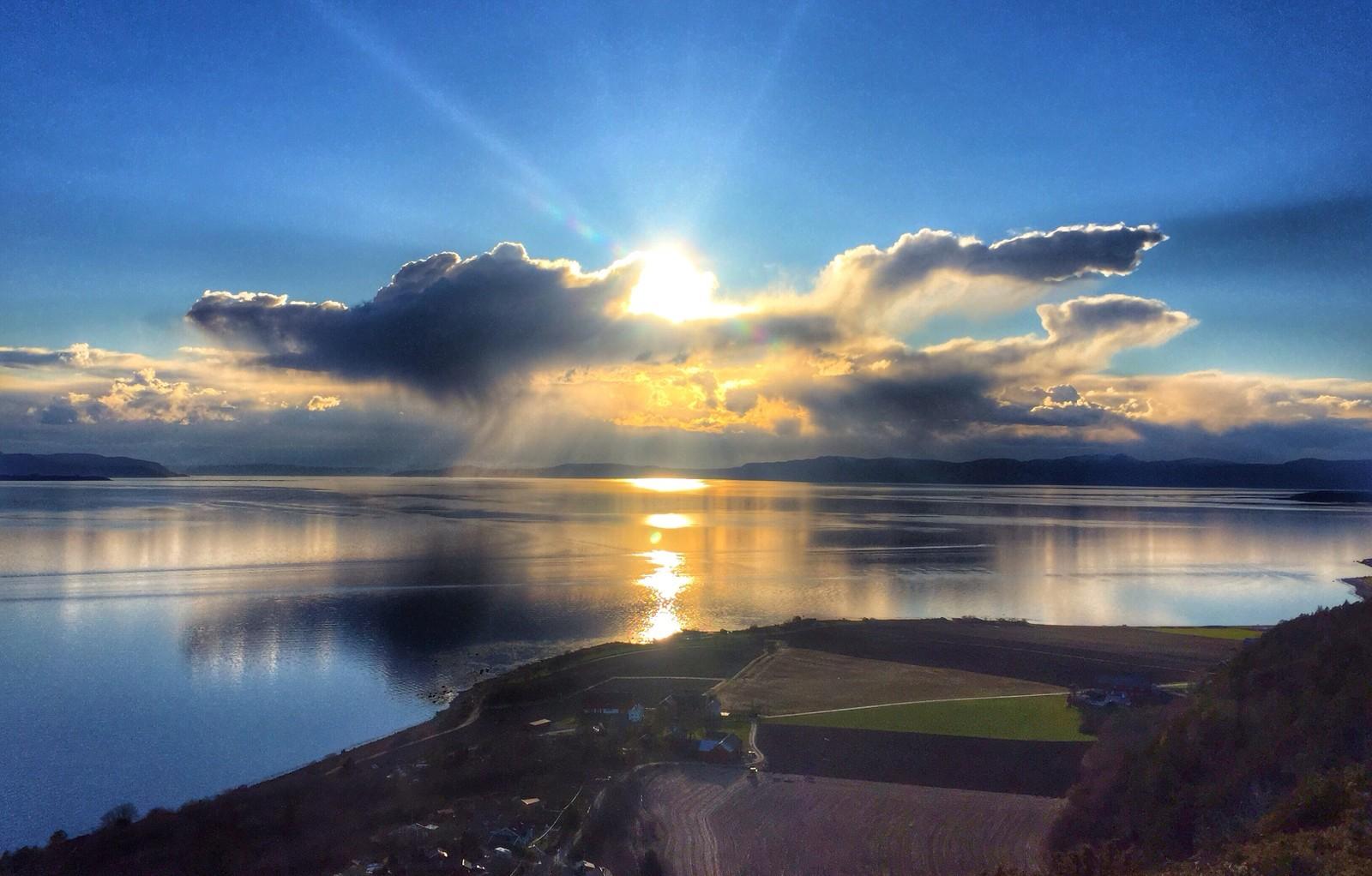 Utsikt fra fra Skardshåmmårn på Skatval