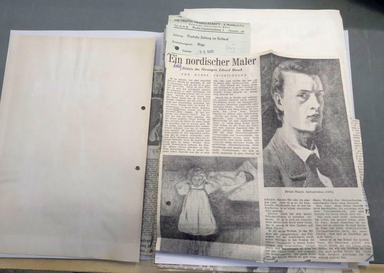 Munch-artikkel frå tysk avis