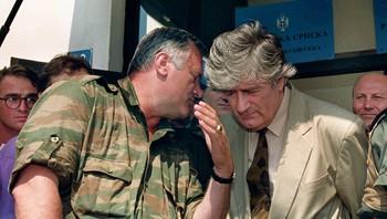 Ratko Mladic og Radovan Karadzic