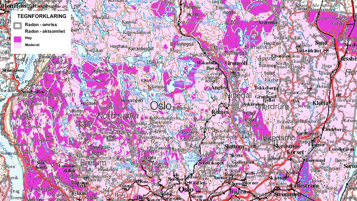 radon kart oslo Har du radon testet boligen din? – NRK Østlandssendingen – Lokale  radon kart oslo
