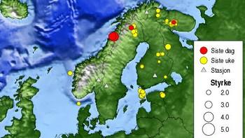 Jordskjelv siste uke
