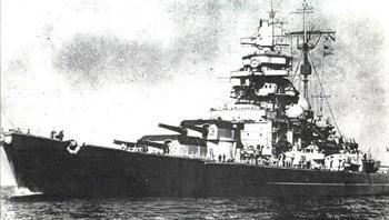 Slagskipet Tirpitz, 53.000 BRT dødvekt!