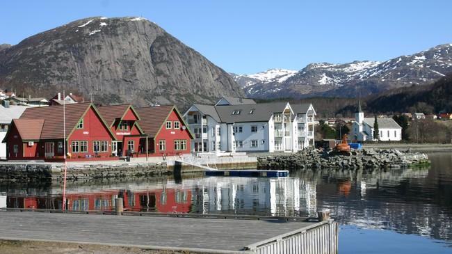 Askvoll Brygge. Foto: Ottar Starheim, NRK.