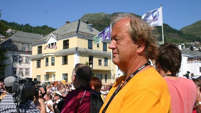 Helge Hjelle var mannen bak Måløydagane, som Maaløy Handelsforening arrangerte. Foto: Erlend Blaalid Oldeide, NRK.