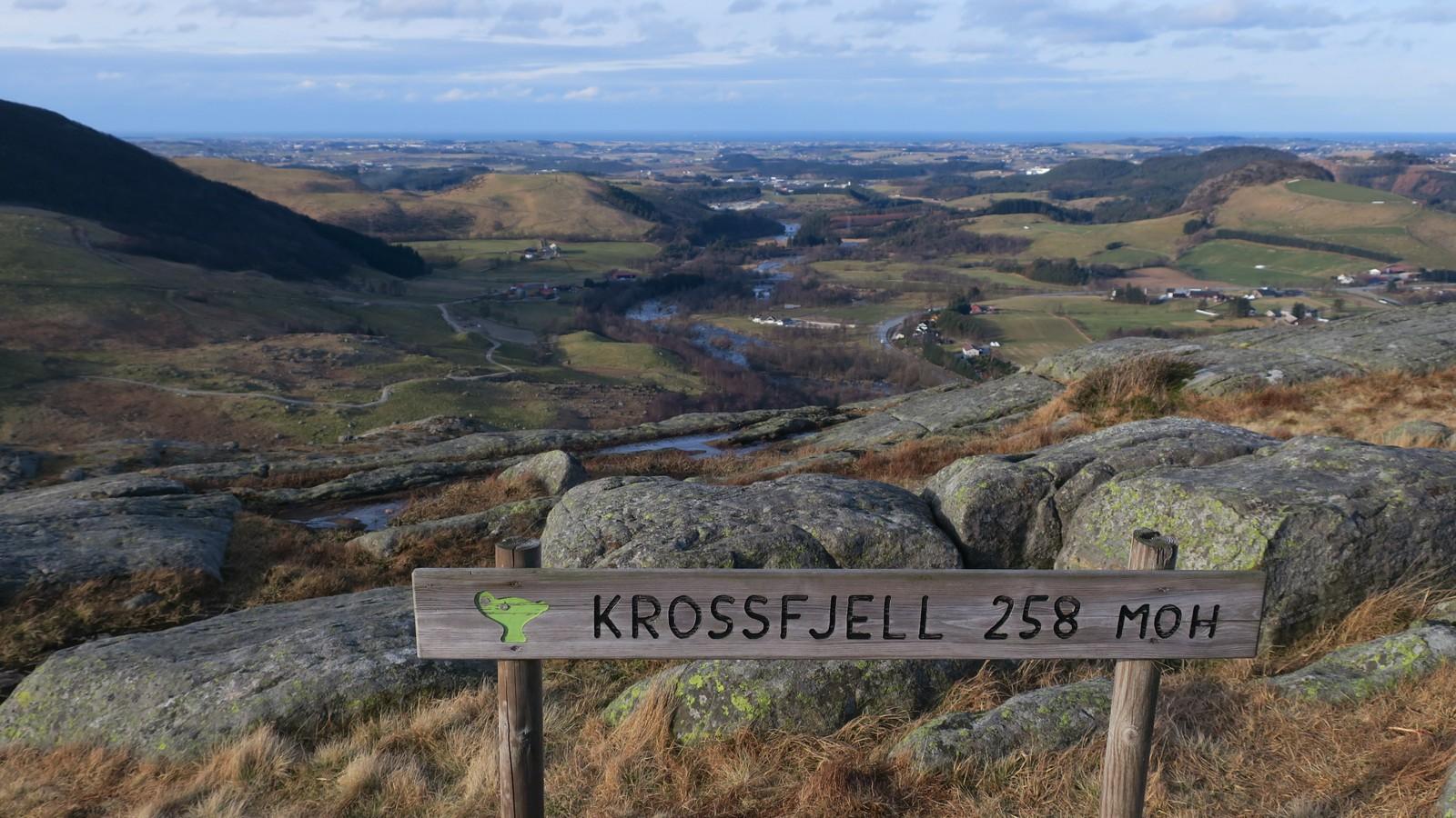 Utsikt fra Krossfjell i Sandnes.