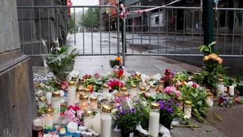 sorg etter terrorangrepene, akersgata søndag