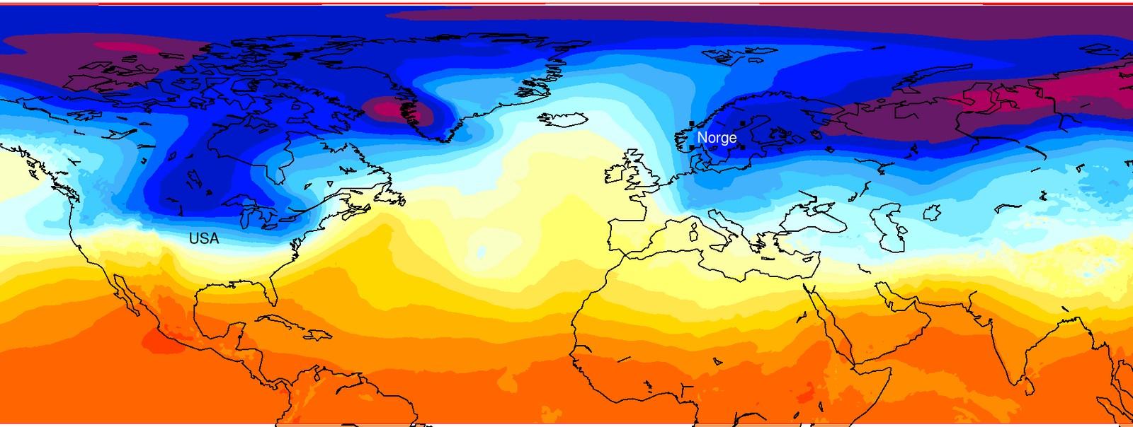 TORSDAG 5. JANUAR: Samme dag sett i et annet perspektiv. Hvem sa at luftmasser og temperatur ikke kunne være vakkert?