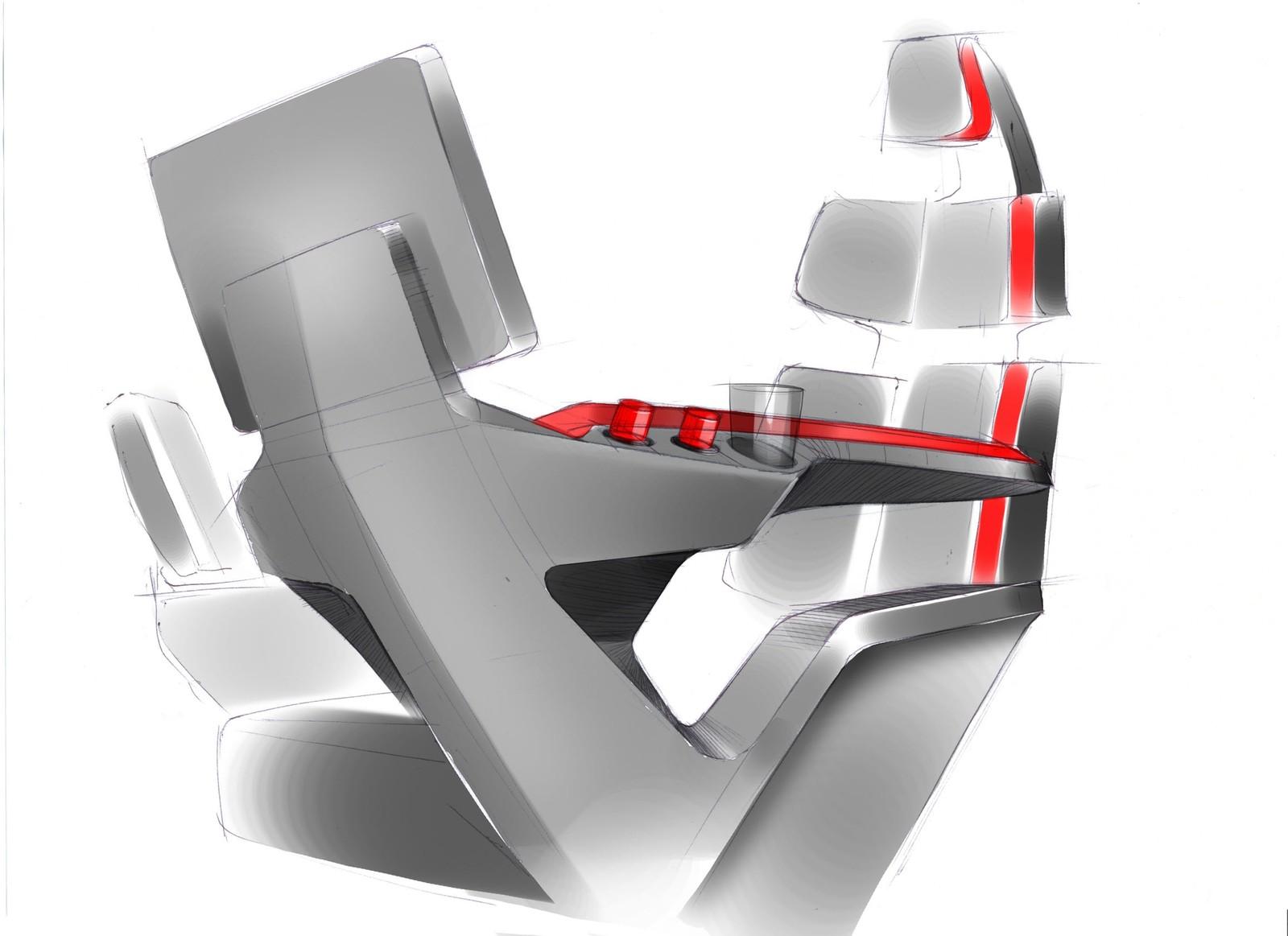 Skisse av peratørstolen X-COM.