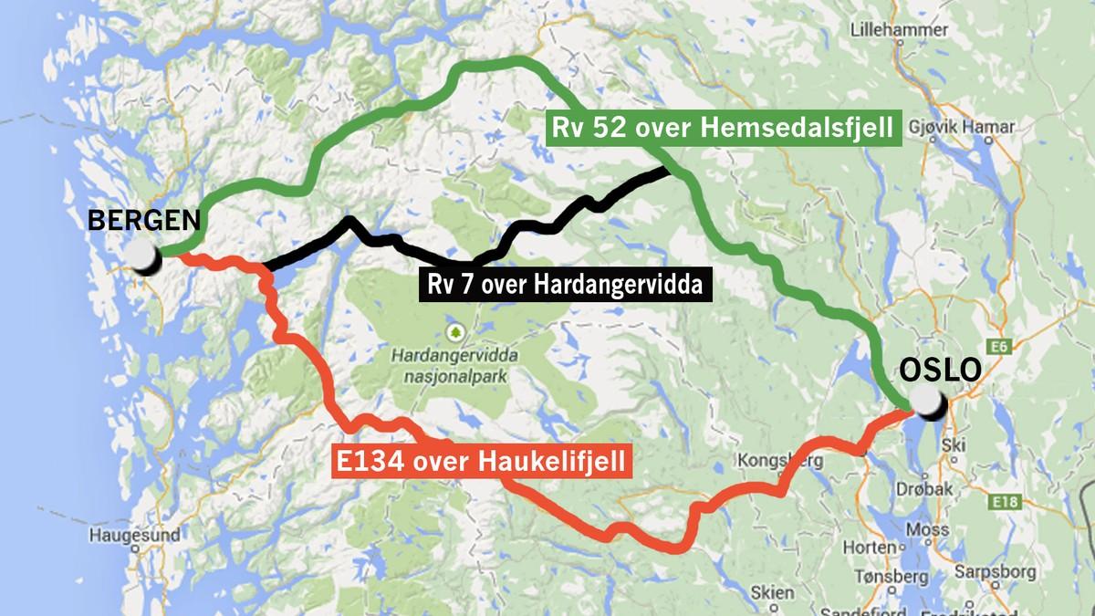 kart over hardangervidda Vil ha Haukeli og Hemsedal framfor Hardangervidda – NRK Buskerud  kart over hardangervidda