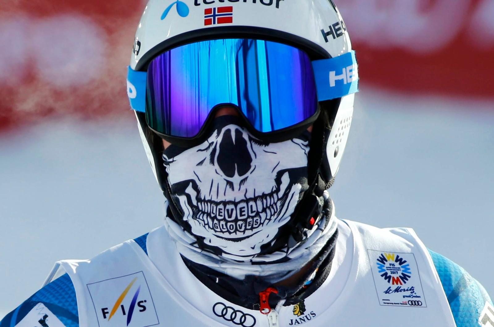 Kjetil Jansrud under trening i St. Moritz i Sveits.
