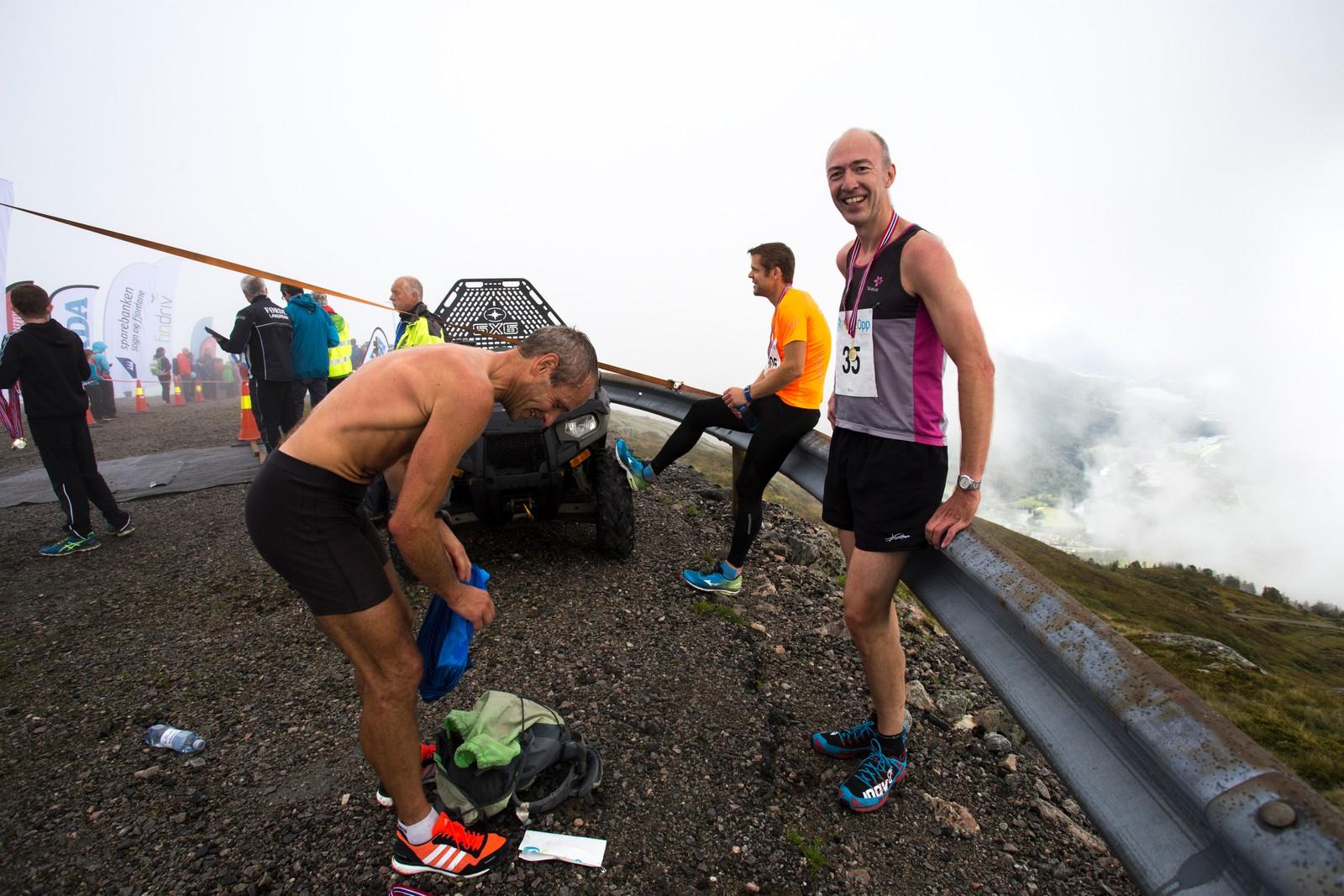 """""""Me gløymer kor bratt det er kvar gong"""" sa Ingvar Skaar (t.h.), som deltok i år på Førde Opp for tredje gong."""
