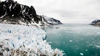 Illustrasjonsfoto fra isbre på Svalbard