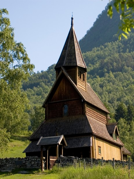 Urnes stavkyrkje er på verdsarvlista til UNESCO. Foto: Merete Husmo Høidal, NRK.