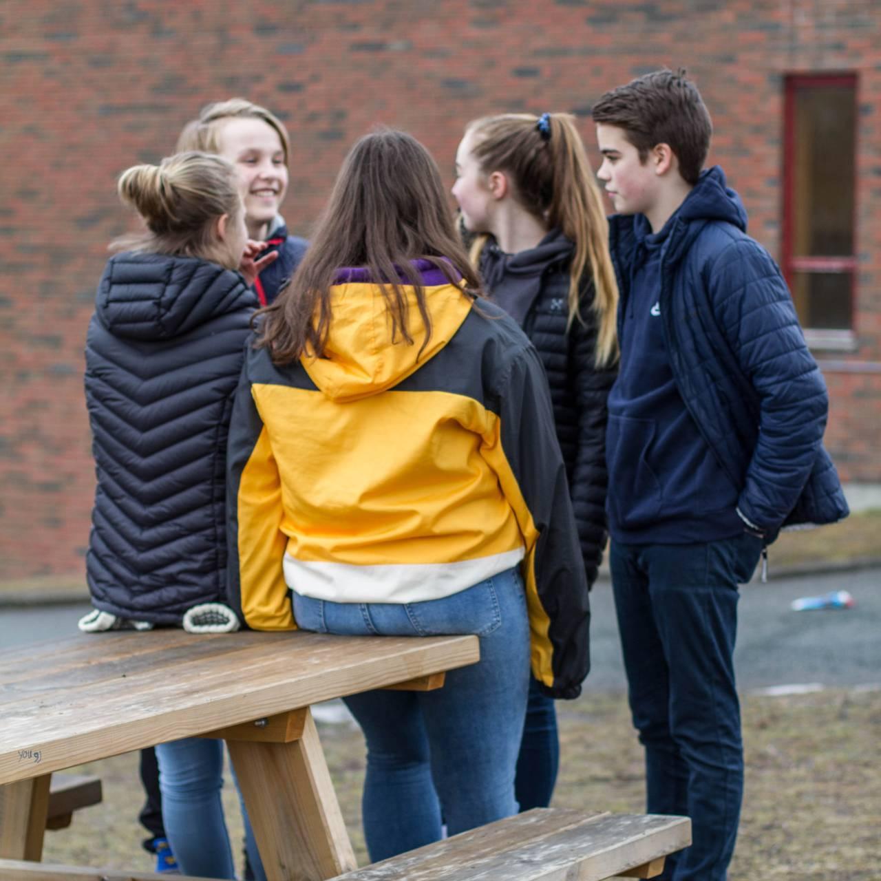 Elevar på Hoeggen ungdomsskule