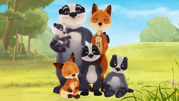 Fru Rev og dottera flyttar til Herr Grevling og barna hans. Det er ikkje alltid lett å få nye søsken. Fransk animasjon.