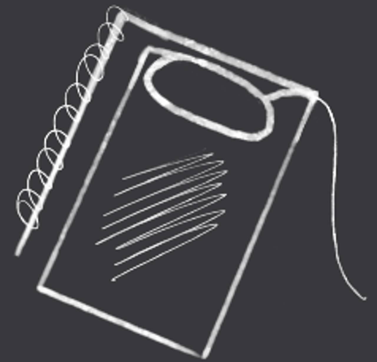Illustrasjon av en notatblokk.