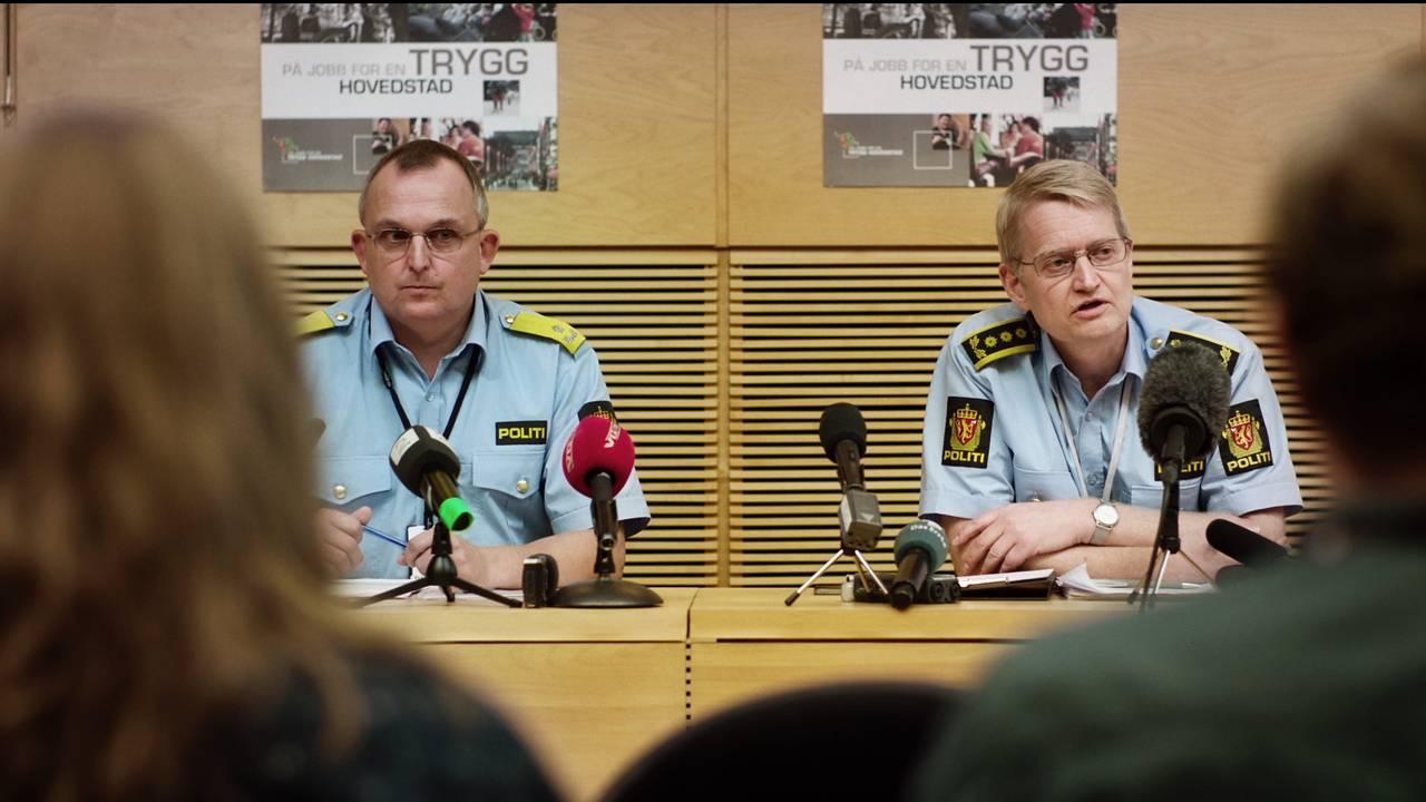 NRKs dramaserie «22. juli» – Johan Fredriksen (Harald Sørlie) og Sveinung Sponheim (Per Kristian Knudsen)