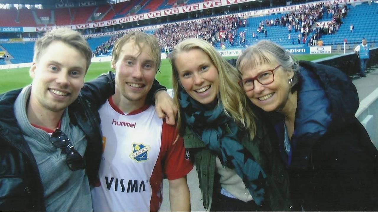 Familien på Lyn-kamp