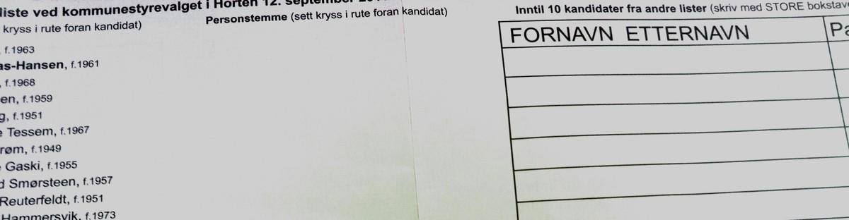 Slik gir du personstemmer – NRK Vestfold og Telemark