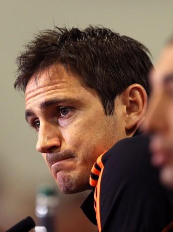 Frank Lampard før oppgjøret mot Barca