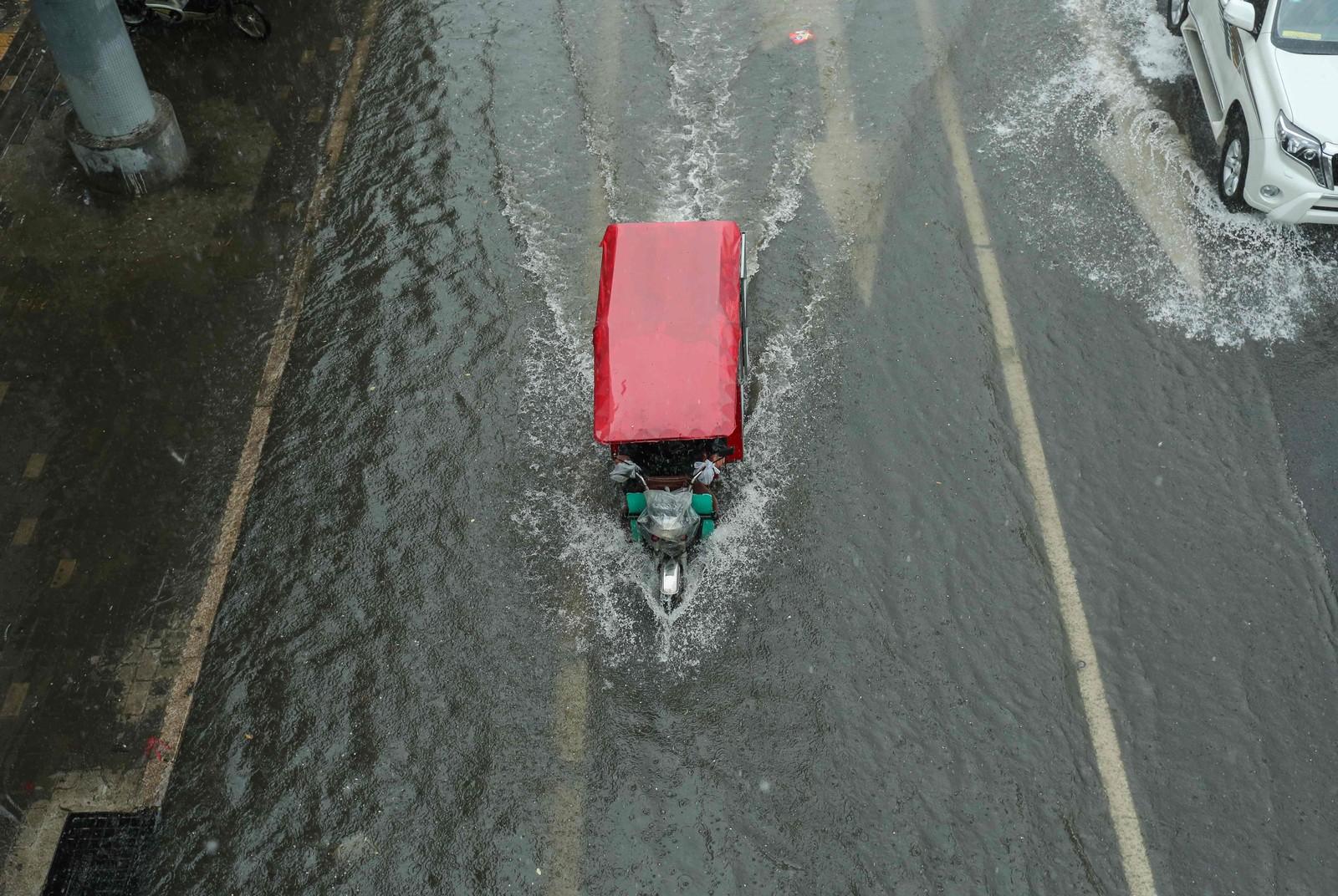 Flommen har inntatt gatene i Beijing